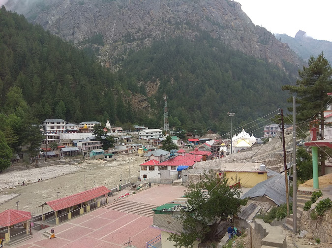 main gangotri temple area view