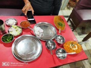 north indian lunch at srinagar garhwal