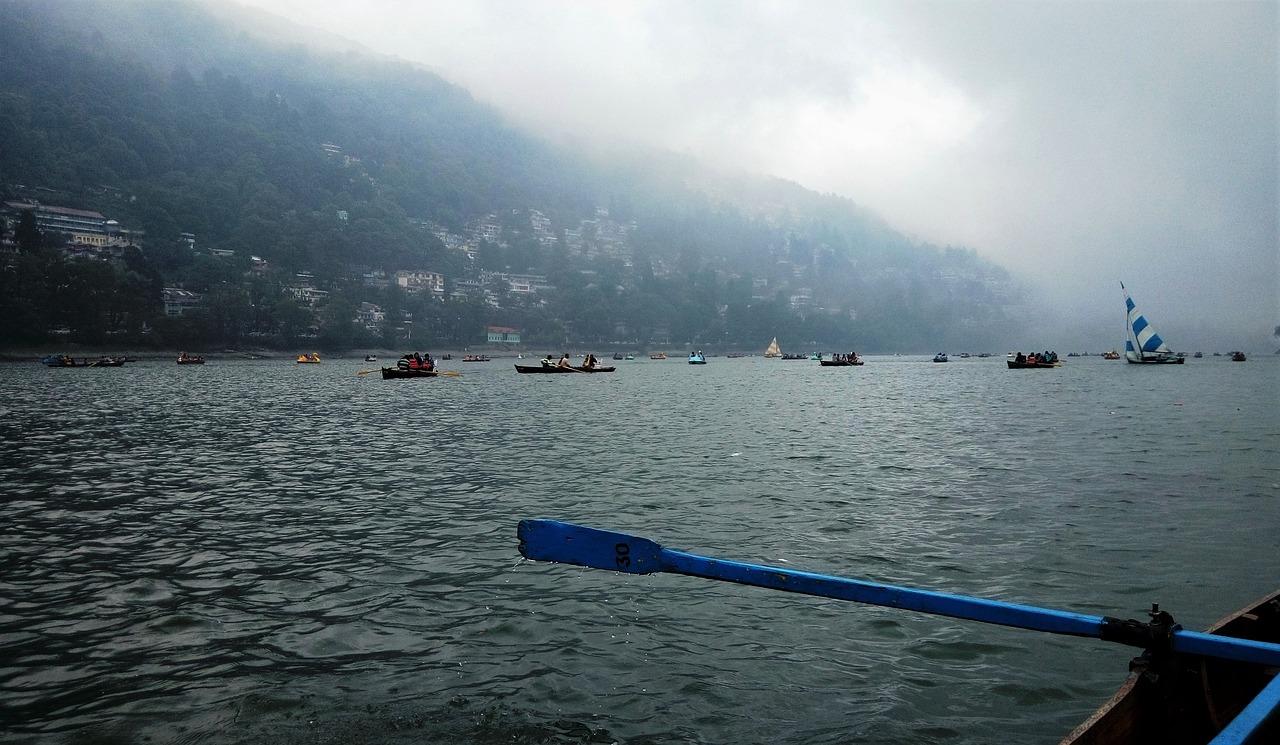 nainital india, lake, stormy weather