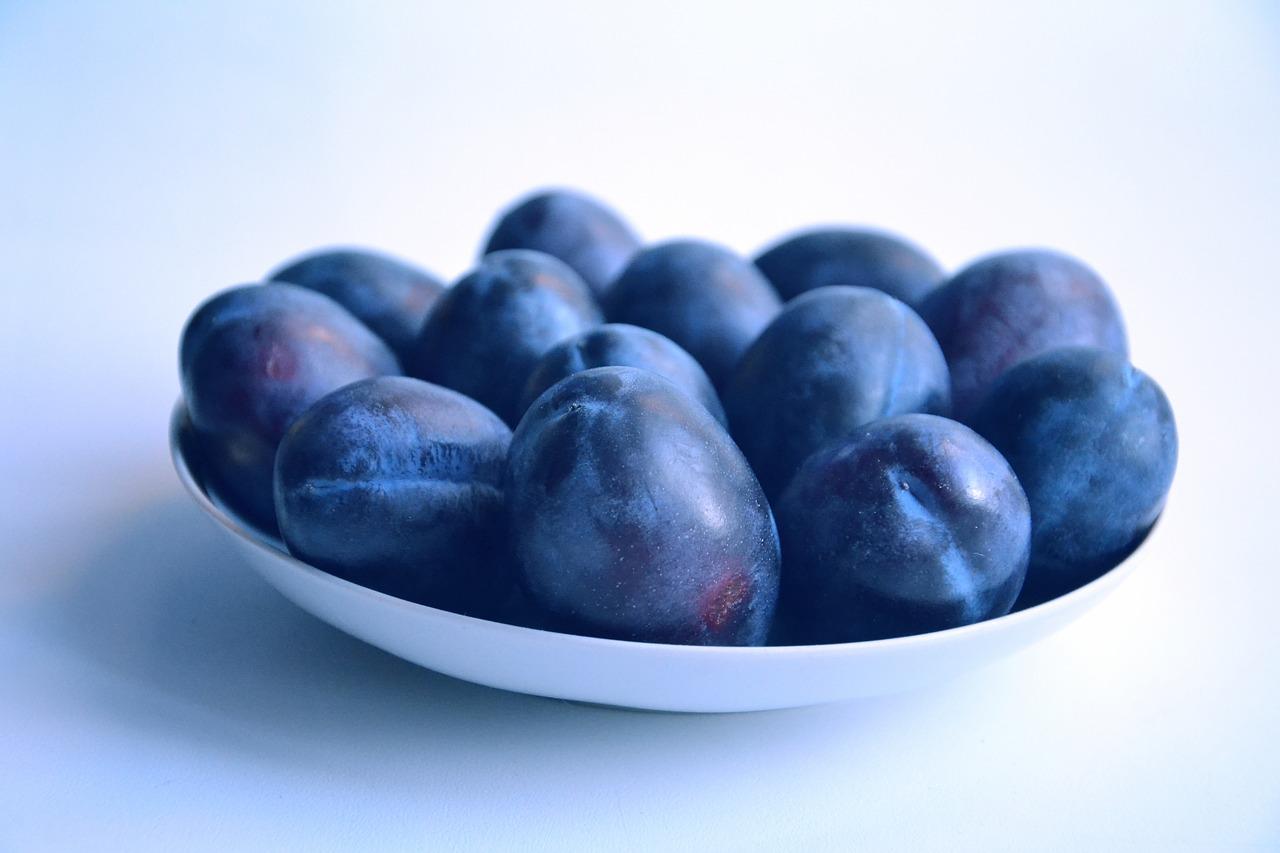 plum, fruit, food