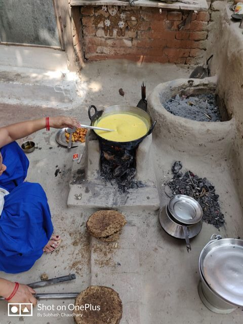 curry or kadhi making in village by village women-VILLAGE LIFE IN INDIA