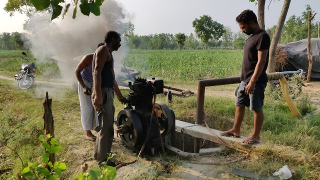 diesel engine-VILLAGE LIFE IN INDIA