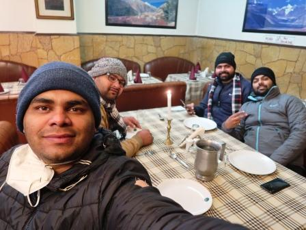 dinner at mall road manali