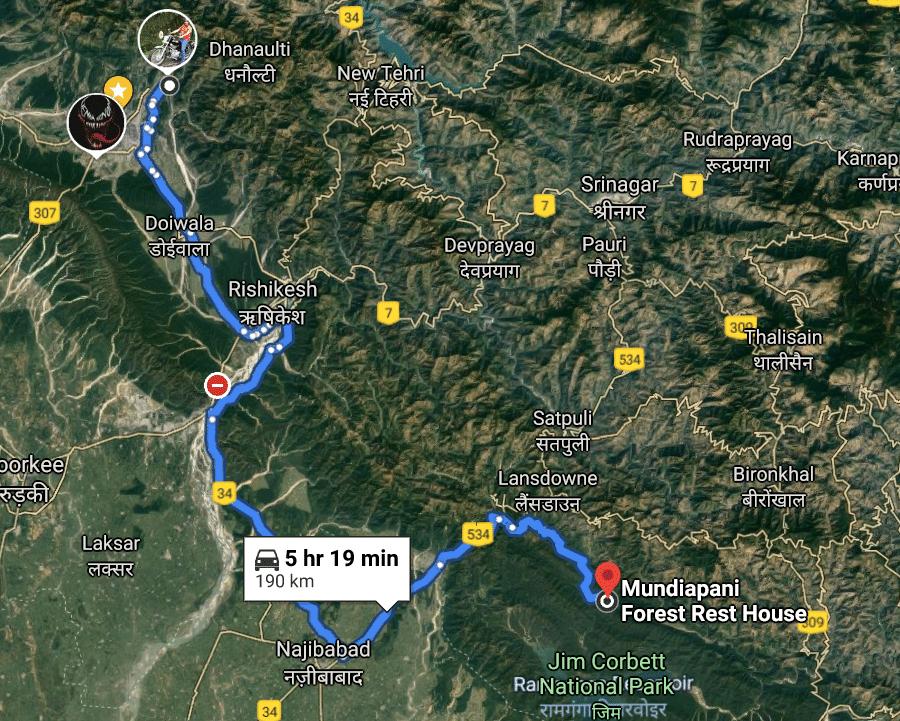 dehradun to jim corbett national park